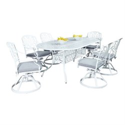 MER-1185 Floral Blossom 7pc Dining Set (w/ Oval Dining Table)