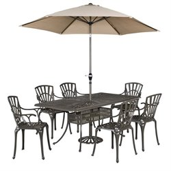 MER-1185 Largo 7 Piece Dining Set (with umbrella)