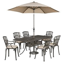 MER-1185 Largo 7 Piece Dining Set (with umbrella and cushions)