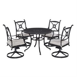 MER-1185 Home Styles Athens 5 Piece Dining Set in Charcoal