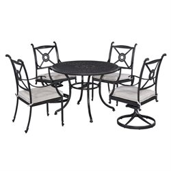 Bowery Hill 5 Piece Dining Set in Charcoal