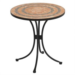 Bowery Hill Patio Bistro Table in Terra Cotta