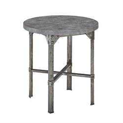 Bowery Hill Patio Bistro Table in Aged Metal