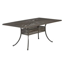 Bowery Hill Patio Dining Table in Taupe