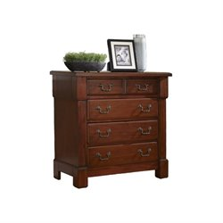 MER-1185 Bowery Hill 4 Drawer Chest in Rustic Cherry
