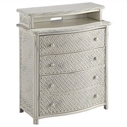 Bowery Hill 4 Drawer Media Chest in White