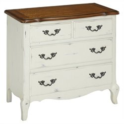 Bowery Hill 4 Drawer Chest in Oak and Rubbed White