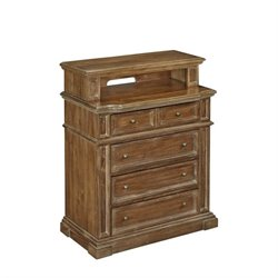 Bowery Hill 4 Drawer Media Chest in Natural Acacia