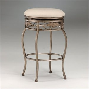 MER-1184 Swivel Bar Stool in Bronze and White