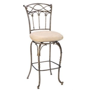 MER-1184 Swivel Bar Stool in Pewter and Beige