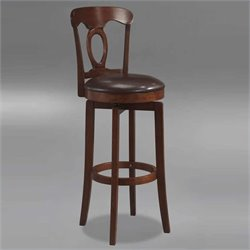 MER-1184 Faux Leather Swivel Bar Stool in Brown 2
