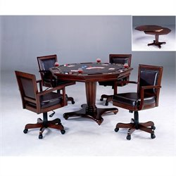 Bowery Hill 5 Piece Game Set in Cherry