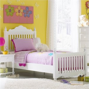 MER-1184 Poster Bed in Pure White