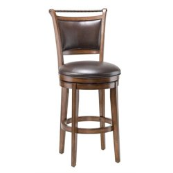 MER-1184 Swivel Bar Stool in Medium Brown Cherry