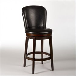 MER-1184 Swivel Bar Stool in Dark Brown Cherry
