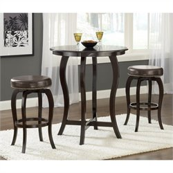 Bowery Hill 5 Piece Pub Set in Cappuccino