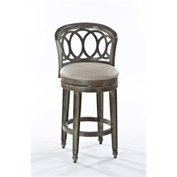 MER-1184 Swivel Bar Stool in Silver