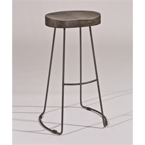 MER-1184 Bar Stool in Black Pewter