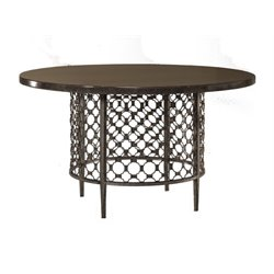 Bowery Hill Round Dining Table in Charcoal