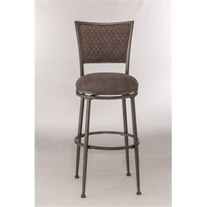 MER-1184 Swivel Bar Stool in Distressed Pewter