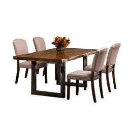 MER-1184 Dining Set in Natural Sheesham