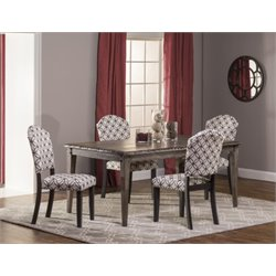 MER-1184 Dining Set in Washed Charcoal Gray 1