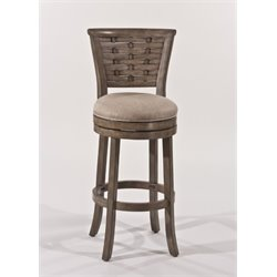 MER-1184 Swivel Bar Stool in Antique Graywash