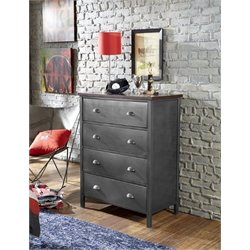 Bowery Hill 4 Drawer Chest in Black Steel
