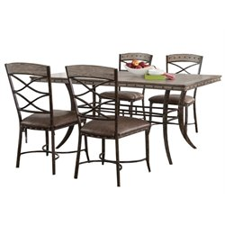 MER-1184 Dining Set in Washed Gray