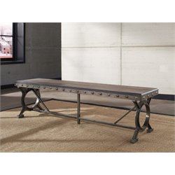 Bowery Hill Dining Bench in Brown and Gray