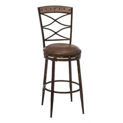 MER-1184 Faux Leather Swivel Bar Stool in Brown 3
