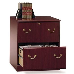 Bowery Hill 2 Drawer Executive Lateral File Cabinet in Cherry