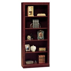 Bowery Hill 5 Shelf Wood Bookcase in Harvest Cherry