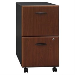 Bowery Hill 2 Drawer Mobile Pedestal in Hansen Cherry