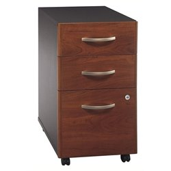 Bowery Hill 3 Drawer Mobile Pedestal in Hansen Cherry