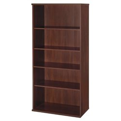 Bowery Hill 5 Shelf Bookcase in Hansen Cherry