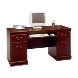 Bowery Hill Wood Executive Credenza in Harvest Cherry