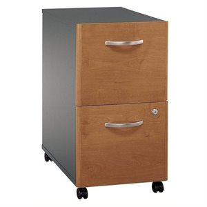 Bowery Hill 2 Drawer Mobile Pedestal in Natural Cherry