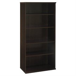 Bowery Hill 5 Shelf Bookcase in Mocha Cherry