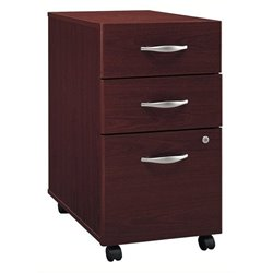 Bowery Hill 3 Drawer Mobile Pedestal in Mahogany