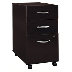 Bowery Hill 3 Drawer Mobile Pedestal in Mocha Cherry
