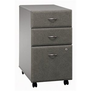Bowery Hill 3 Drawer Mobile Pedestal in Pewter