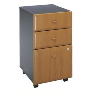 Bowery Hill 3 Drawer Mobile Pedestal in Natural Cherry