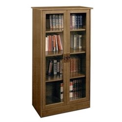 Bowery Hill 4 Shelf Glass Door Barrister in Inspire Cherry
