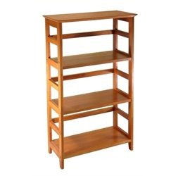 Bowery Hill 3 Shelf Bookcase in Honey