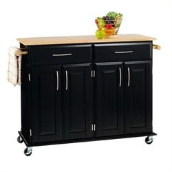 Bowery Hill Kitchen Cart in Black