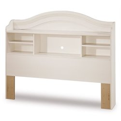 Bowery Hill Full Bookcase Headboard in White