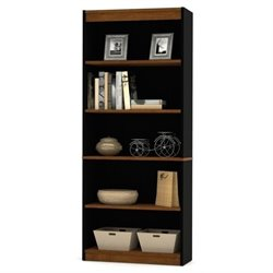 Bowery Hill 5 Shelf Bookcase in Tuscany Brown