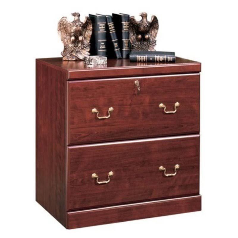 Bowery Hill 2 Drawer Lateral Wood File Cabinet in Classic Cherry