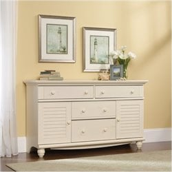Bowery Hill Dresser in Antiqued White